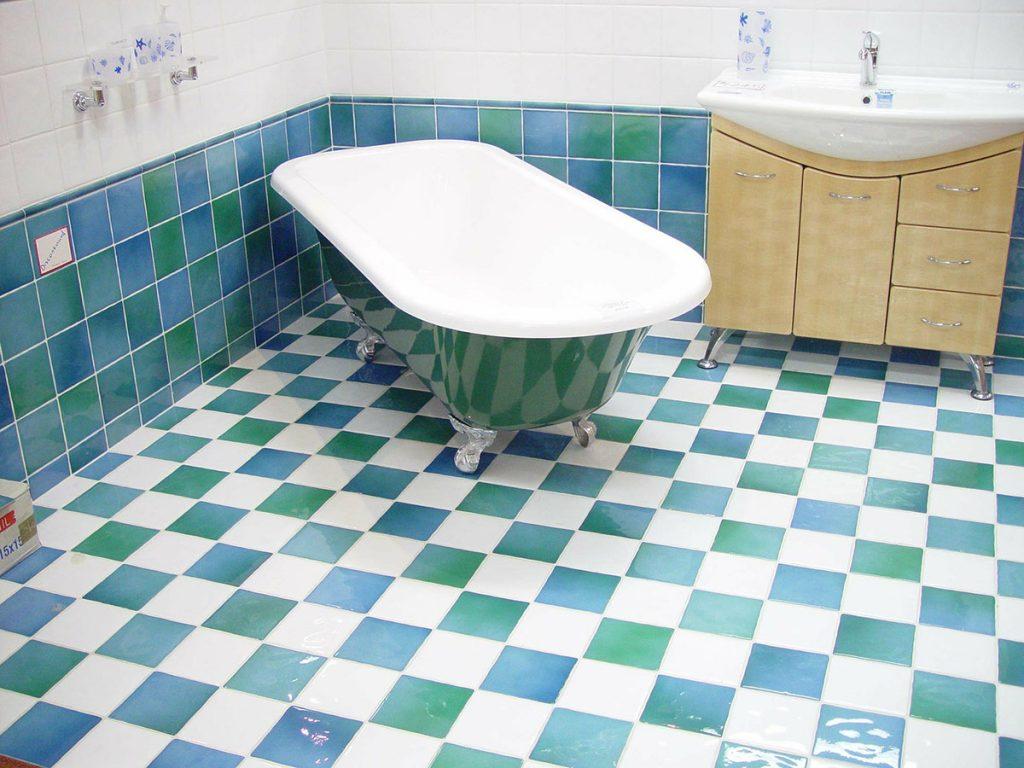 fürdőszoba csempe kék